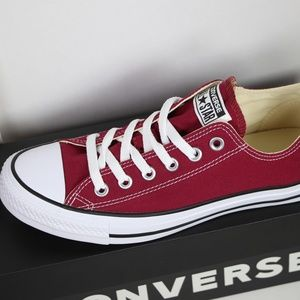 16e3c1d55423 Converse Shoes - Maroon Classic Converse All Star Low Tops
